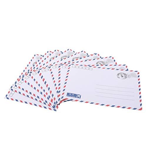 Vektenxi Premium Qualität 10 STÜCKE Retro Leder Luftpost Briefumschlag Briefpapier, Als Beschreibung