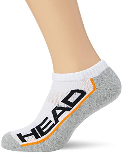 HEAD Unisex-Adult Performance Sneaker-Trainer Multipack Socks, White/Grey, 43/46