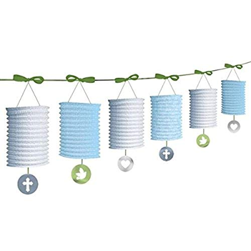 Amscan 229423 Paper Lantern Garland, One Size, Multicolor