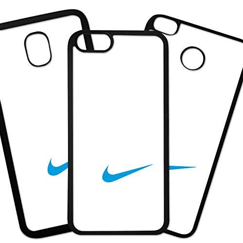 Tuscaprichosonline Fundas De Moviles Carcasas De Moviles Funda Carcasa Compatible con Marca Deportiva Nike Logo Azul Fondo Blanco