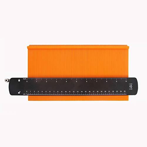 Medidor contorno calibre perfil bloqueo Duplicador bloqueo ajustable 10pulgadas,herramienta medición formas irregulares para copiar precisión,para esquinas,plantillas carpintería,azulejos laminados