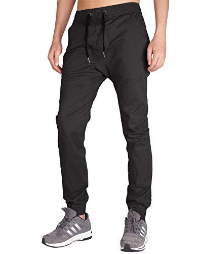 Italy Morn Herren Jogger Jeans Sweathose Chinohose Sporthose Slim Fit L Schokolade