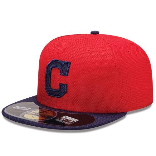 New Era Erwachsene Baseball Cap Mütze MLB Diamond Era CleveLAnd Indians 59 Fifty Fitted, Team, 7 3/8