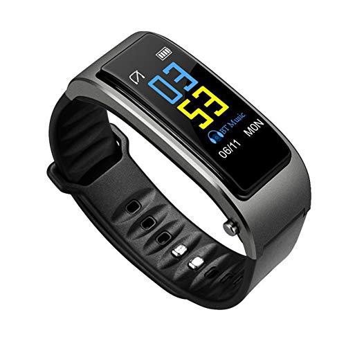 Hihey Y3 Fitness Armband wasserdicht Smart Armband Bluetooth Smartwatch, pulsuhr, Aktivität Tracker, Schrittzähler, Vibrationsalarm, Anruf, SMS, Whatsapp Beachten für iPhone Android Handy (Grau)
