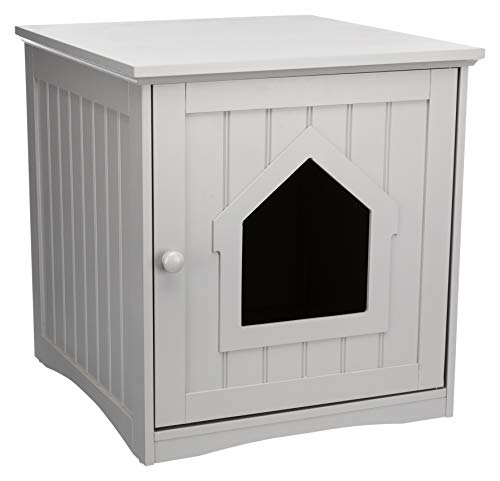 Trixie Wooden Litter Box Enclosure for Standard Size Litter Box, Gray