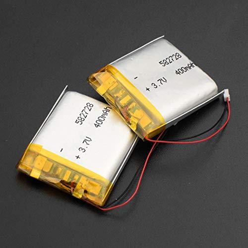 Grehod 582728 3,7 V 400 mAh wiederaufladbarer Lithium-Polymer-Lithium-Ionen-Akku für Q50 G700S K92 G36 Y3 Kinder Smartwatch MP3 Bluetooth-Headset 2Pcs