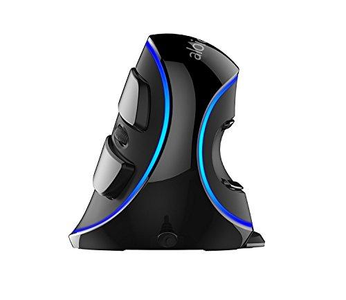 ALOICI Ergonomische Optische Maus Vertical Optical Wired Mouse-(Size: 90 X94 X145 MM), schwarz, 90 x 94 x 145 mm