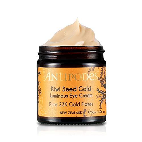 ANTIPODES Kiwi Seed Gold Anti-Aging Eye Cream – Brighten Skin & Address Dark Circles, Eye Bags & Fine Lines – with Vitamin C Eye Cream Ingredient Kiwi Seed Oil – Dry Skin – 30ml, 1 fl. Oz