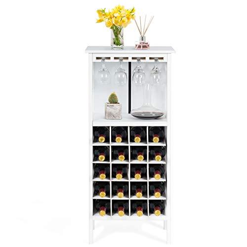CASART 20 Bottles Holder Wine Cabinet, Wine Glass Rack Storage Display Shelves Units for Kitchen, Living Room and Wine Cellar