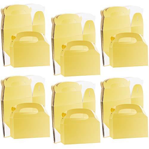 Belle Vous Karton Geschenkboxen Set Gold Glanz (x24) Pappschachteln mit Deckel 16 x 9,3 x 8,6cm Geschenke Box Kraftpapier Geschenk Box, Geschenkbox Karton Box für Geschenke, Kindergeburtstag, Hochzeit