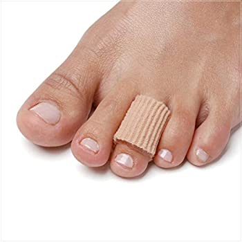 NatraCure Gel Corn Pads - 12 Pack with Moisturizing SmartGel Technology - Reusable Tubing Sleeves Protect and Cushion Corns Blisters Plantar Warts Pressure Sores Calluses on Feet Toes Fingers