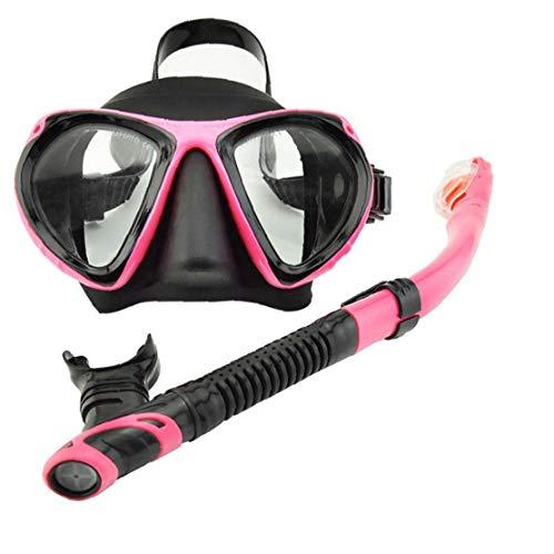 Cubierta De La Seca del Tubo Respirador De Pieza De Visera Conjunto del Tubo Respirador del Salto con Tubo De Respiración para 2pcs Hombre Adulto Mujer De Color Rosa