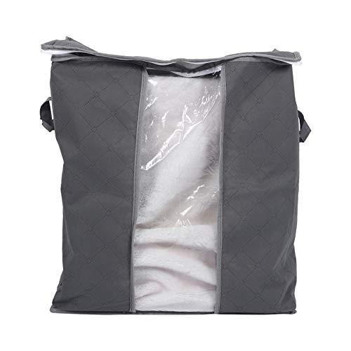 Caja de Almacenamiento, Bolsa de Almacenamiento Plegable Zaradi Bolsa de Organizador de Armario de Ropa de Fibra de carbón de bambú(Gris)