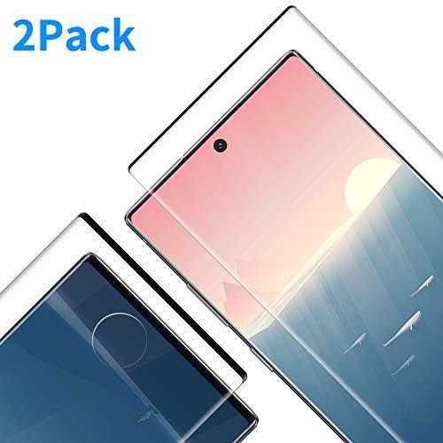 Protector Pantalla para Galaxy Note 10 Plus, [2 Piezas] Cristal Templado para Galaxy Note 10 Plus, [3D Cobertura Completa] [9H Dureza] [Resistente a Arañazos] Vidrio Templado para Note 10 Plus