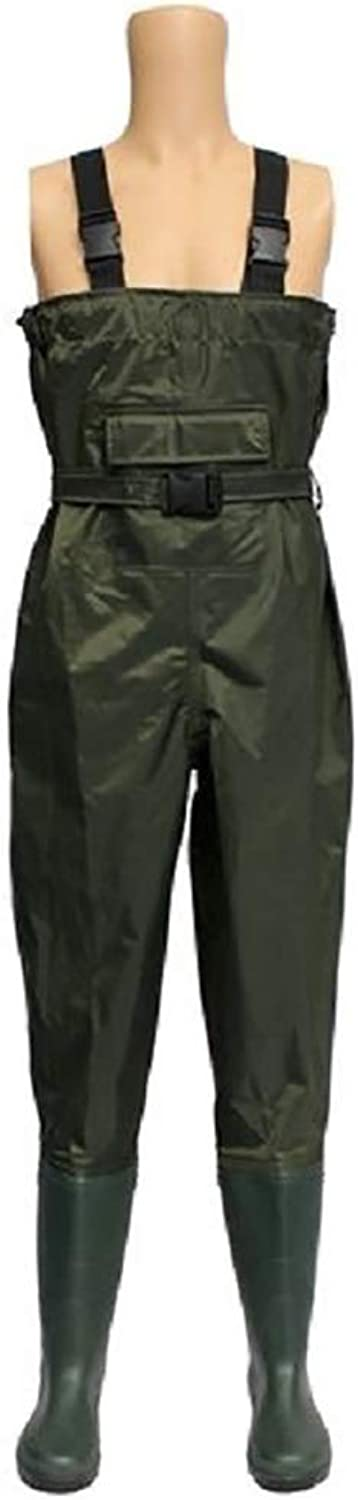 YSAGNZQ Fishing Waders-100% Waterproof PVC Chest Breathable Fly Fishing Dirt Boot Nylon Chest Waders Waterproof Pants