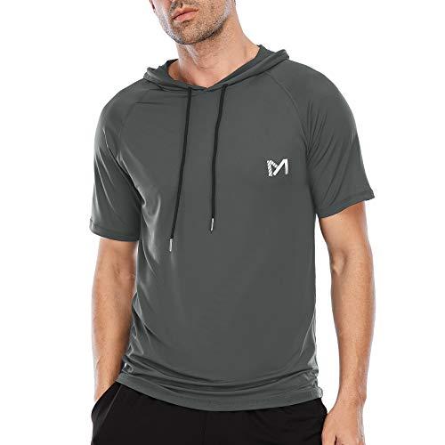 MEETYOO Sportshirt Herren, Funktionsshirt Kurzarm Laufshirt Männer Fitnessshirt Atmungsaktiv T Shirts für Running Gym Jogging