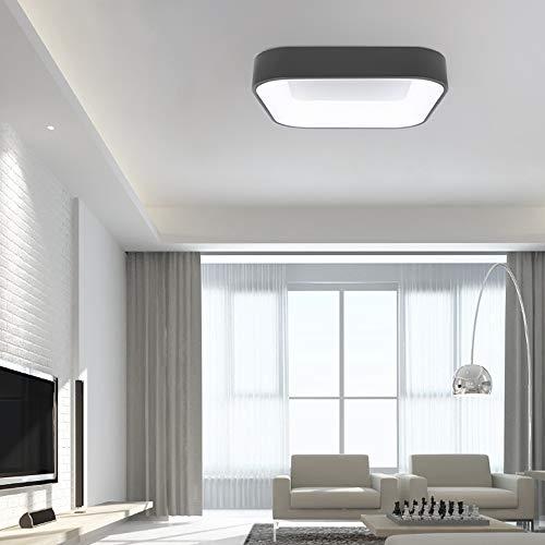 Avior Home LED Deckenleuchte -Candy-, eckig, 60 cm, 47 W, Grau, Tageslicht