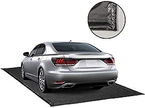 ChaoJin Rain Mat for Car, Black Garage Rubber Car Mat for Snow, Mud, Rain(7ft 9in x 16ft)