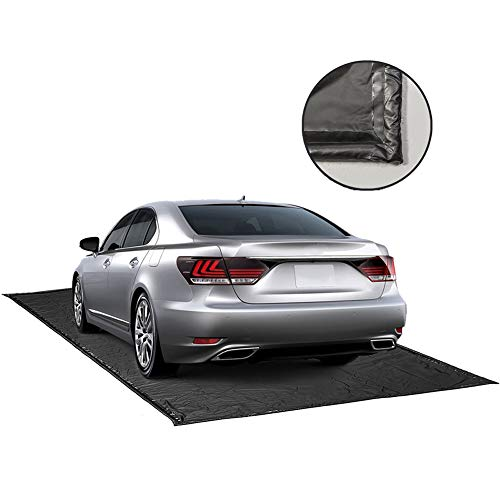 ChaoJin Garage Car Mat, Containment Mat (Black) for Snow & Mud & Rain(7ft 9in x 18ft)