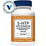 The Vitamin Shoppe 5HTP with B6 100 MG (5Hydroxytryptophan) Provides Mood Sleep Support, Once Daily (120 Capsules)