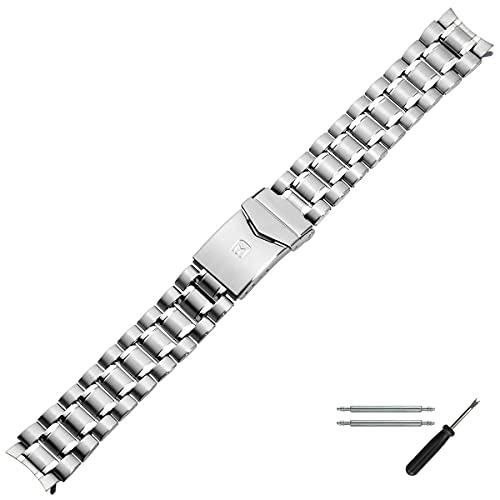 MARBURGER Uhrenarmband 18mm Edelstahl Silber - Werkzeug Montage Set 82001850020