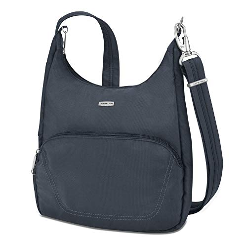 Travelon Anti-Theft Classic Essential Messenger Bag, Midnight, One Size