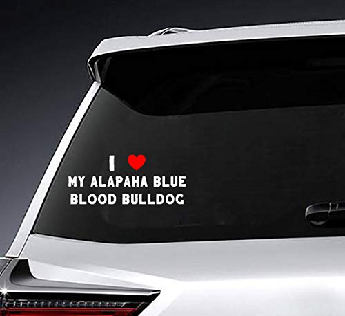I Love My ALAPAHA Blue Blood Bulldog Decals. Customize The Color, Last Name Initial, and Size. Perfect for Your Wine Glasses, flasks, Yeti Cups, Wedding 1