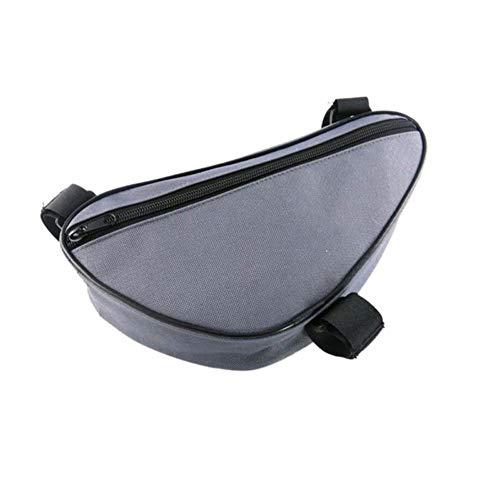 WOOAI Nouveau Outdoor Cycling Front Bag Triangle extérieur imperméable à l'eau Bike Kit Tube Cadre Sacs pour vélo de Montagne vélo de Route, Couleur: Gris Clair, Taille: M