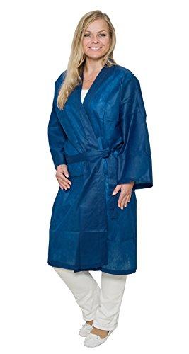 50pieza Fieltro de kimono, color azul oscuro–desechables Kimono–115x 50cm–desechables de kimono–kosmetiker desechable de bata–Bata