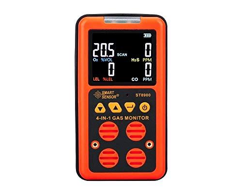 WCY 4 in 1 Multi-Gasmonitor Digital-Handklima Quality Monitor Gastester Kohlenmonoxid-Gas Analyzer Kohlenmonoxid-Messgerät yqaae