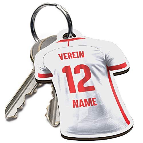 Elbeffekt Schlüsselanhänger für Köln Fans aus Holz - personalisierbares Geschenk - schenke Dein individuellen Köln Fanartikel aus Echtholz