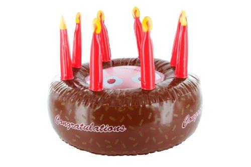 Aufblasbare Geburtstagstorte Schokoladenkuchen