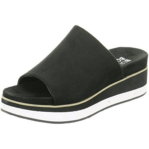 BULLBOXER Damen ClogsPantoletten 265004F2T, Frauen Clogs, Ladies feminin elegant Women's Women Woman Freizeit leger Slipper,Schwarz,37 EU / 4 UK