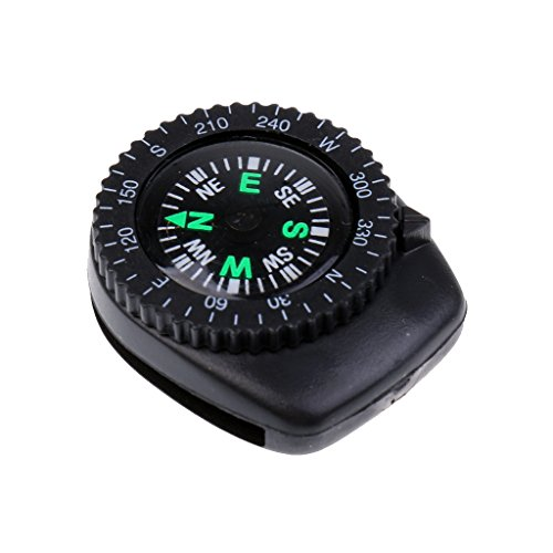 25mm Mini Portable Precision Watch Band Clip-on Navigation Wrist Compass for Survival Camping Hiking