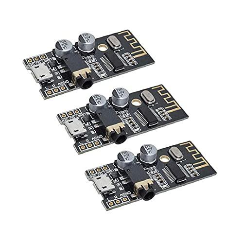 Módulo receptor de audio inalámbrico Bluetooth MP3 M28 Junta 4Wireless sonido estéreo Módulo Negro 3PCS, tablero del amplificador