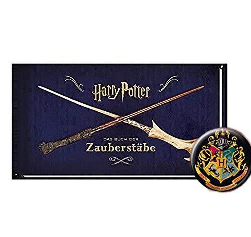 Harry Potter: Das Buch der Zauberstäbe (gebundene Ausgabe) + 1. Original Harry Potter Button
