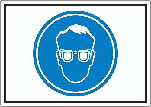 Schutzbrille tragen Symbol Aufkleber A7 (74x105mm)