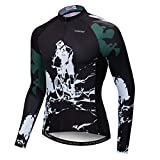 Weimostar - Maillot de ciclismo de manga larga para hombre, mountain bike, mountain bike mountain bike mountain bike outdoor Racing Tops para hombre, otoño, primavera, poliéster, negro, talla XXL