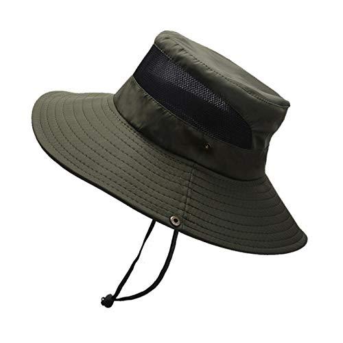 NYSYZSM Sombrero de Pescador de Malla Transpirable de Malla para sombrilla al Aire Libre para Hombre Sombrero de Pescador Plegable Negro Puro | Gorra de béisbol Masculina |
