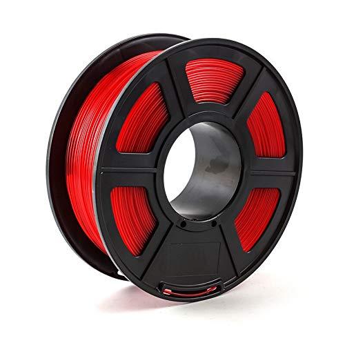 3D Printer Filament 1.75 PLA PETG Carbon Fiber Wood ABS Metal Eramics Nylon Printing Filament (Color : PETG Trans Red)