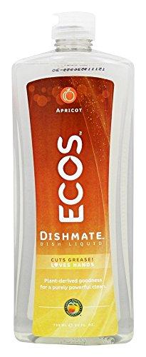 Ecos Dishmate, Jabon para Trastes, Hypoalrgenico, Amigable con el Medio Ambiente, Aroma Durazno
