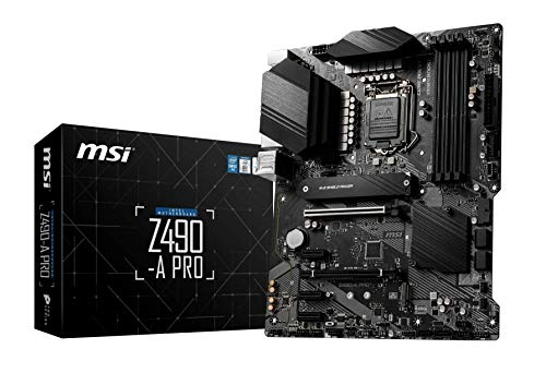 MSI Z490-A PRO - Placa Base Pro Series (10th Gen Intel Core, LGA 1200 Socket, DDR4, Doble Ranura M.2, USB 3.2 Gen 2, 2.5G LAN, DP/HDMI)