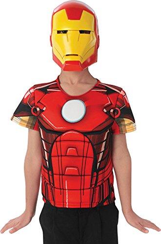 Rubie's-déguisement officiel - Marvel- Kit enfant plastron 3D et masque PVC Iron Man-- AC5616