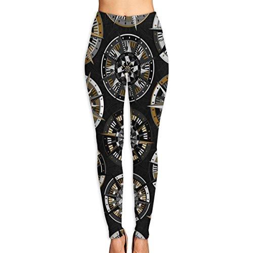 YBRB Magnetkompass Frauen Lustiger Druck Yoga Leggings Hosen Workout Fitness Hosen Sport Gym Yoga Schnelltrocknende Capri Leggings