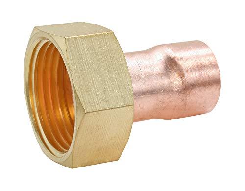 SOMATHERM FOR YOU - Raccord cuivre à souder - Raccord droit Ø22 écrou tournant laiton 20/27