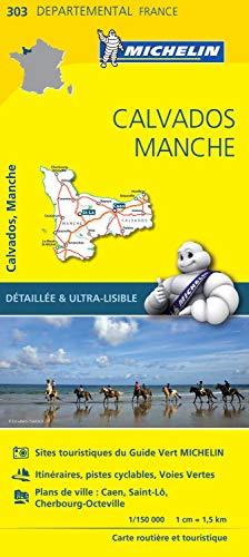 Carte Départemental Michelin Calvados, Manche (CARTES, 5060)