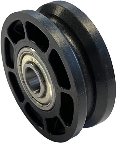 Seilrolle 50, Durchmesser Ø 52 mm, für Seile bis zu Ø 4 mm mit doppeltem Kugellager mit Distanzring - Made in Germany