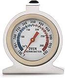 WiseGoods - Termómetro analógico para horno de acero inoxidable de 300 grados, para colgar y colocar en la pared