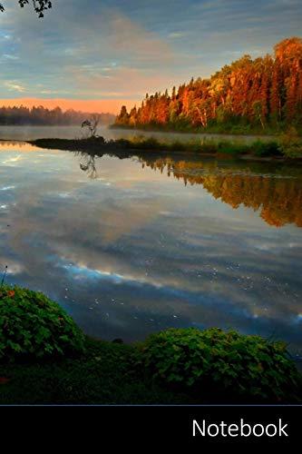 Notebook: 風景、自然、霧、朝 ノートブック/ 日記 / ライティングブック / ノート - 6 x 9インチ(15.24 x 22.86 cm)、150ページ、光沢のある表面。