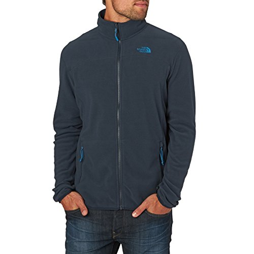 The North Face M 100 Glacier Full Zip, Polaire Zippée Manches Longues Homme, Urban Navy, S